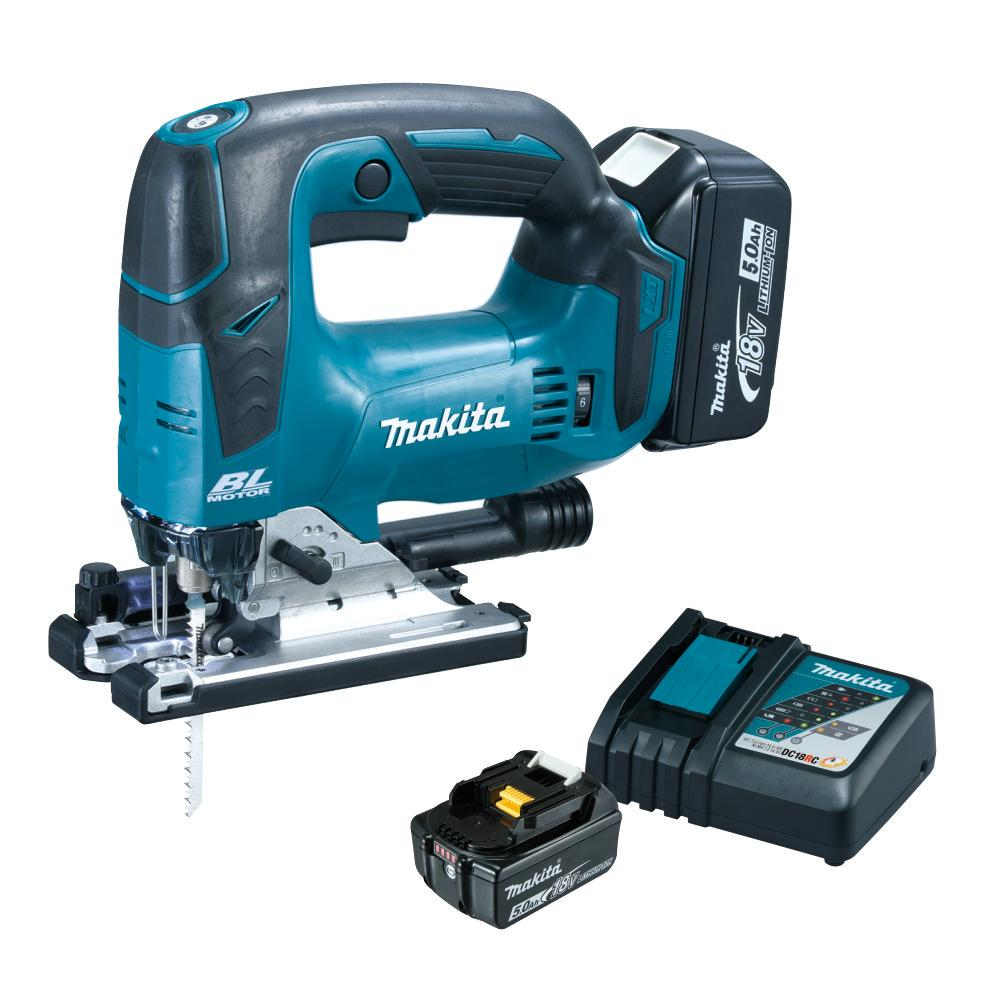RENT - Makita Cordless Jig Saw 18V (SET 2x5Ah) LXT BL Brushless