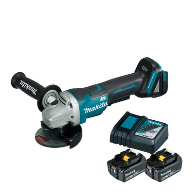 Photo of Makita Cordless Angle Grinder (SET 2x5Ah) 18V LXT BL Brushless 100mm