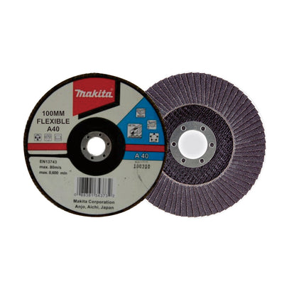 Photo of Makita Flexible Flap Disc 100mm (Curve Sanding)