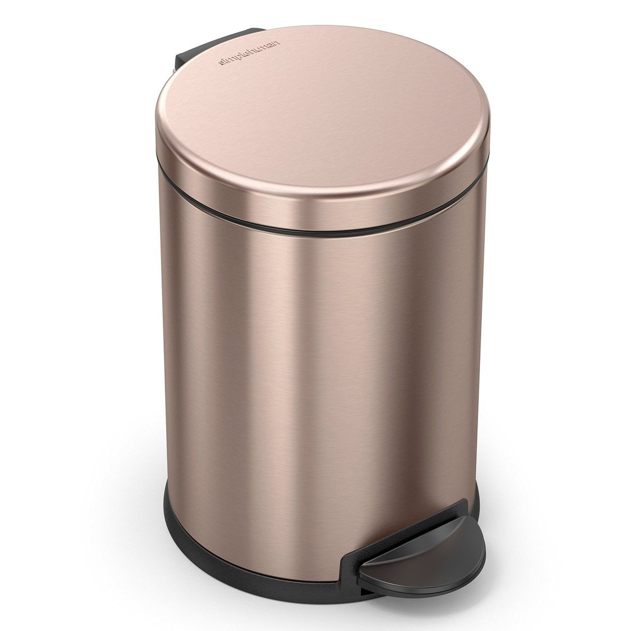 Simplehuman Round Rose Gold Step Can - 4.5L