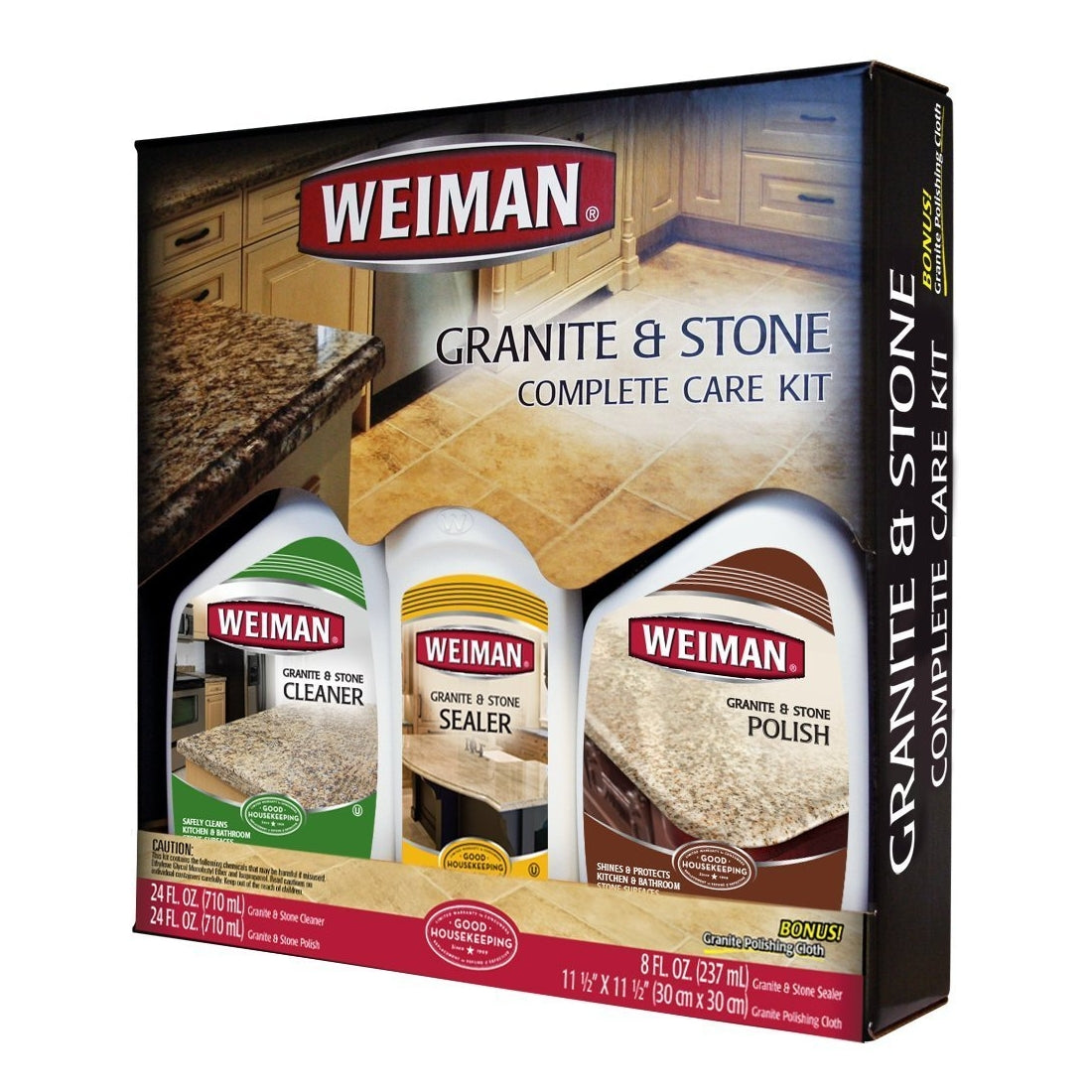 Weiman Granite & Stone Complete Care Kit