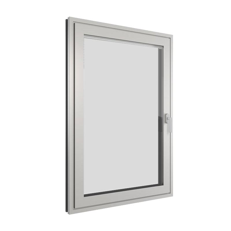 Aluminium Silver Frame Casement Window