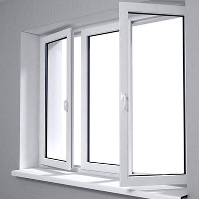 Aluminium White Frame Casement Window
