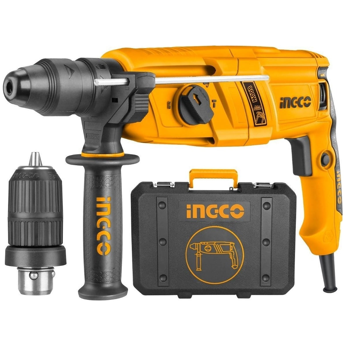 Ingco RGH9018-2 Rotary Hammer Drill 2 Chuck 800W