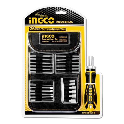 Ingco HKSDB0268 26 Pc Screwdriver Bit Set