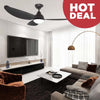 "Alaska Ceiling Fan Pearl II 56"" Black"