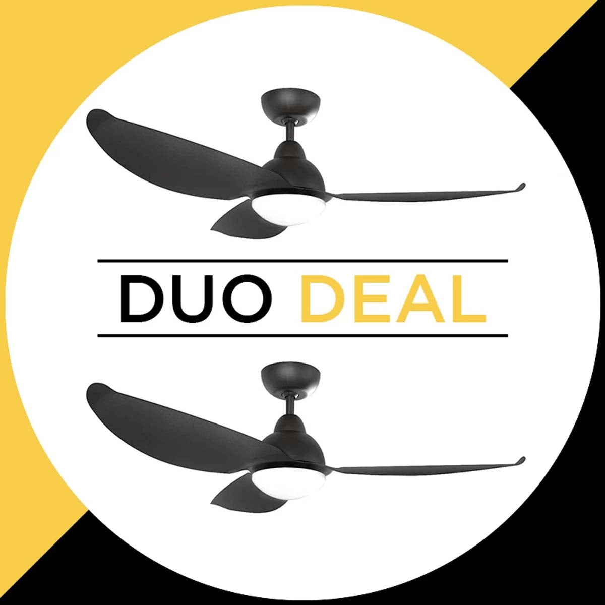 "Alaska Ceiling Fan Pearl II 46"" Solid Colour Duo Deal"