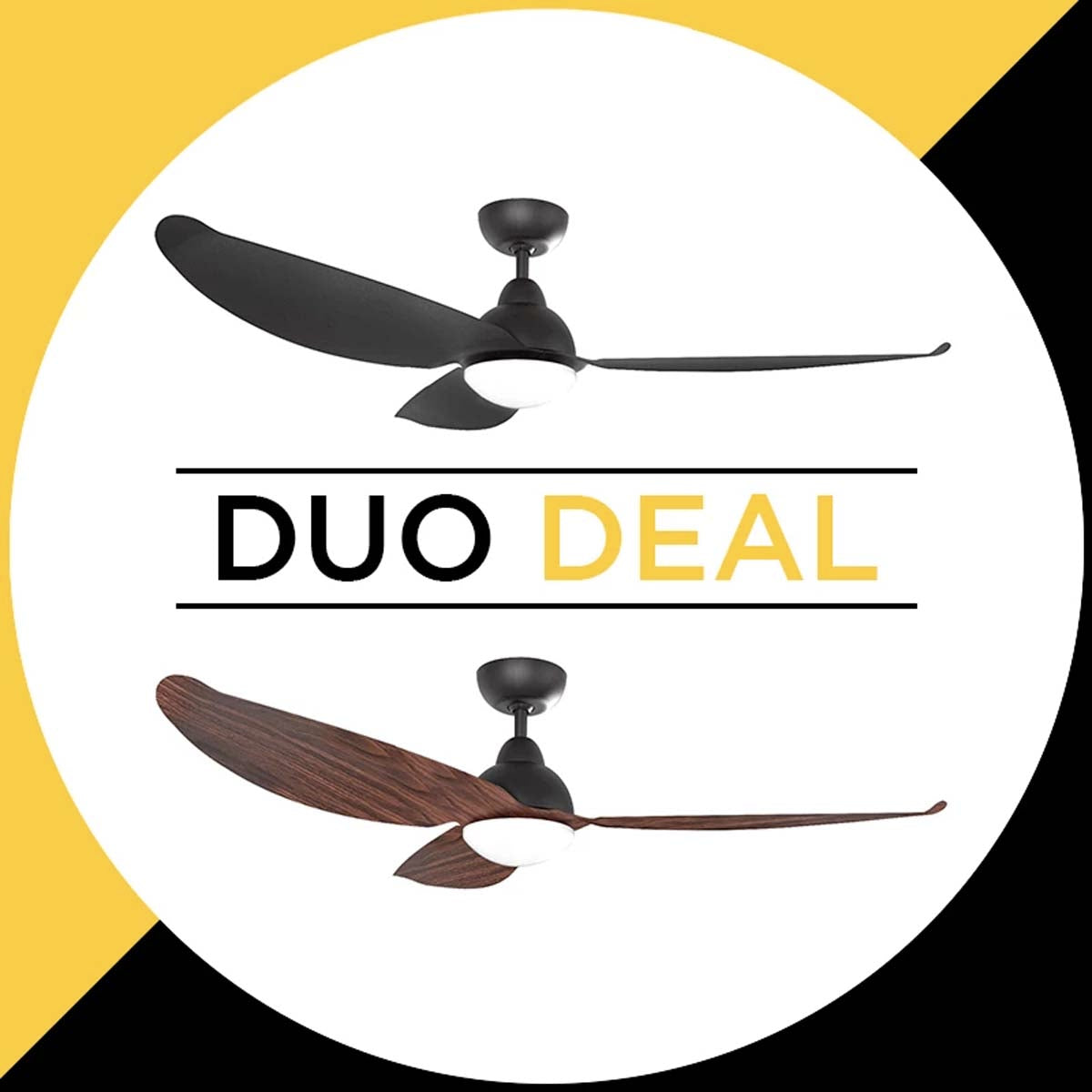 "Alaska Ceiling Fan Pearl II 56"" Solid/ Wood Colour Duo Deal"