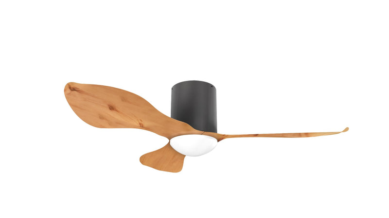 "Alaska Ceiling Fan Birch DC 46"" Black Light Wood"