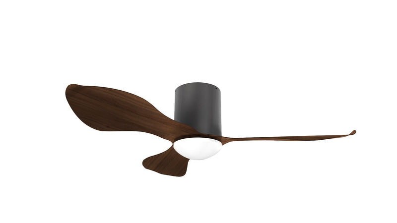 "Alaska Ceiling Fan Birch DC 46"" Black Dark Wood"