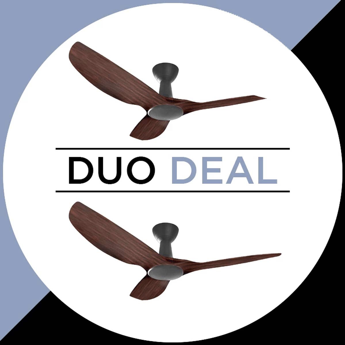 "Alaska Ceiling Fan Hawk 49"" Wood Colour Duo Deal"