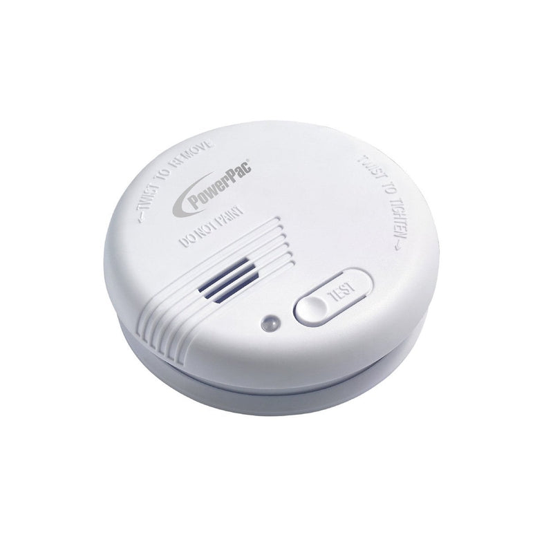 PowerPac Smoke Detector with Light and Test Button (PPSD125)