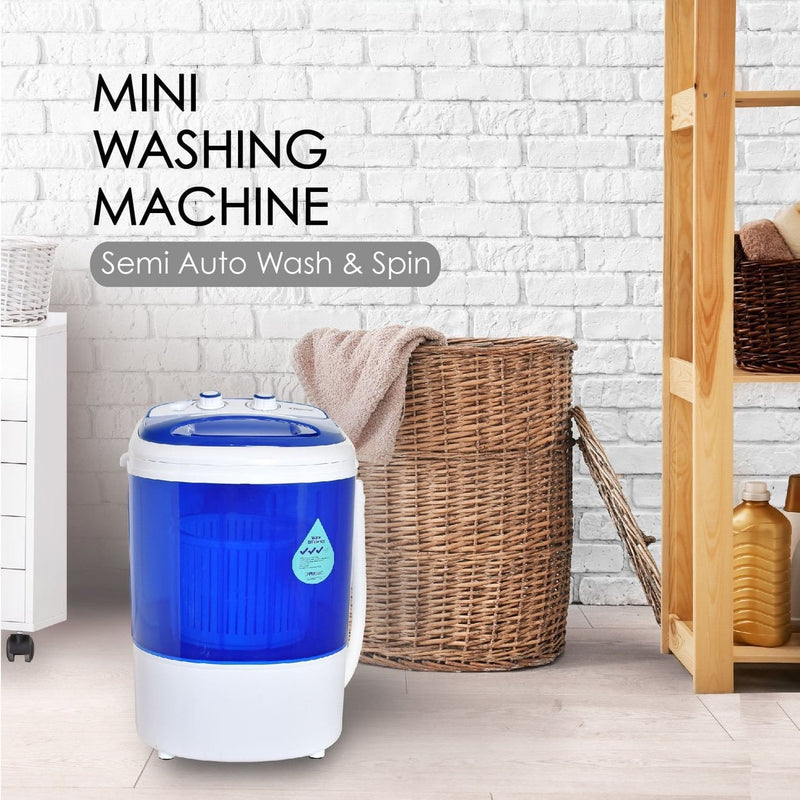 PowerPac 2in1 Mini Washing Machine - 15 Mins Fast Laundry (PPW820)