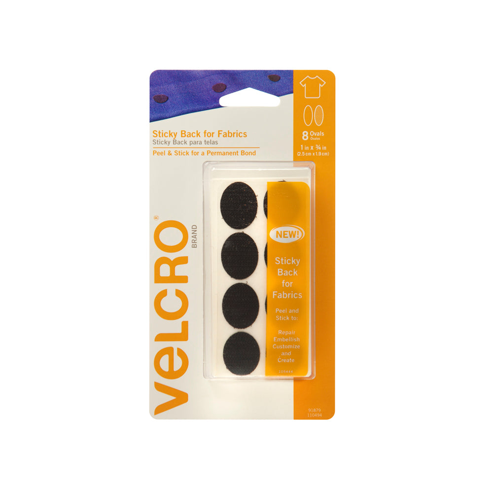 "Velcro Sticky Back 1*3/4"" Black"