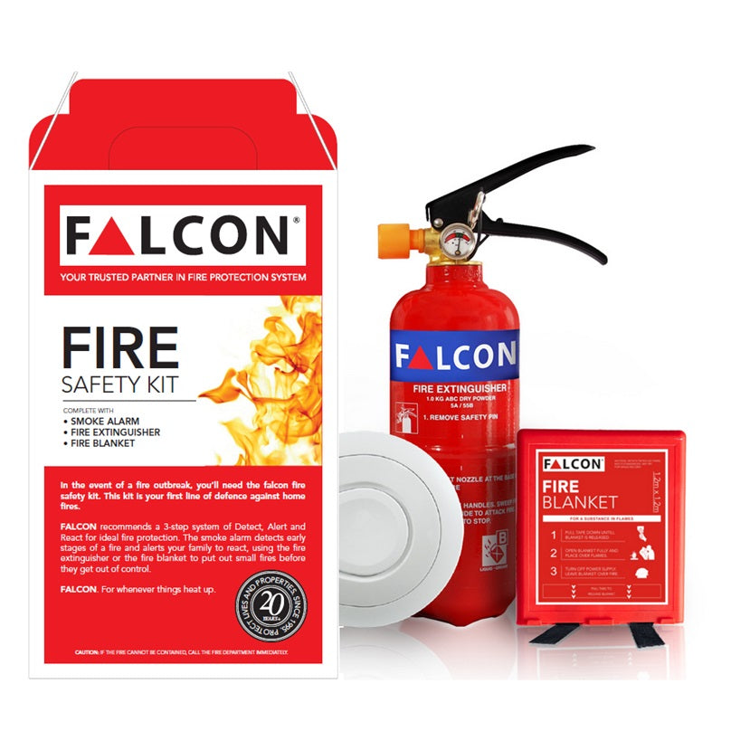 Falcon 3-In-1 Home Fire Safety Kit