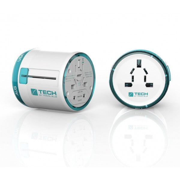 Travel Blue Sliding Adaptor World - Blue/Turquoise/Purple