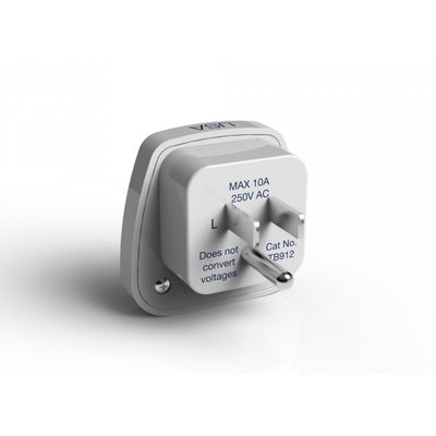 Travel Blue World To USA Adapter - White