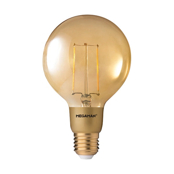 Megaman Dim LED Gold Filament Globe G95