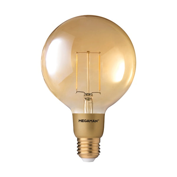 Megaman Dim LED Gold Filament Globe G125