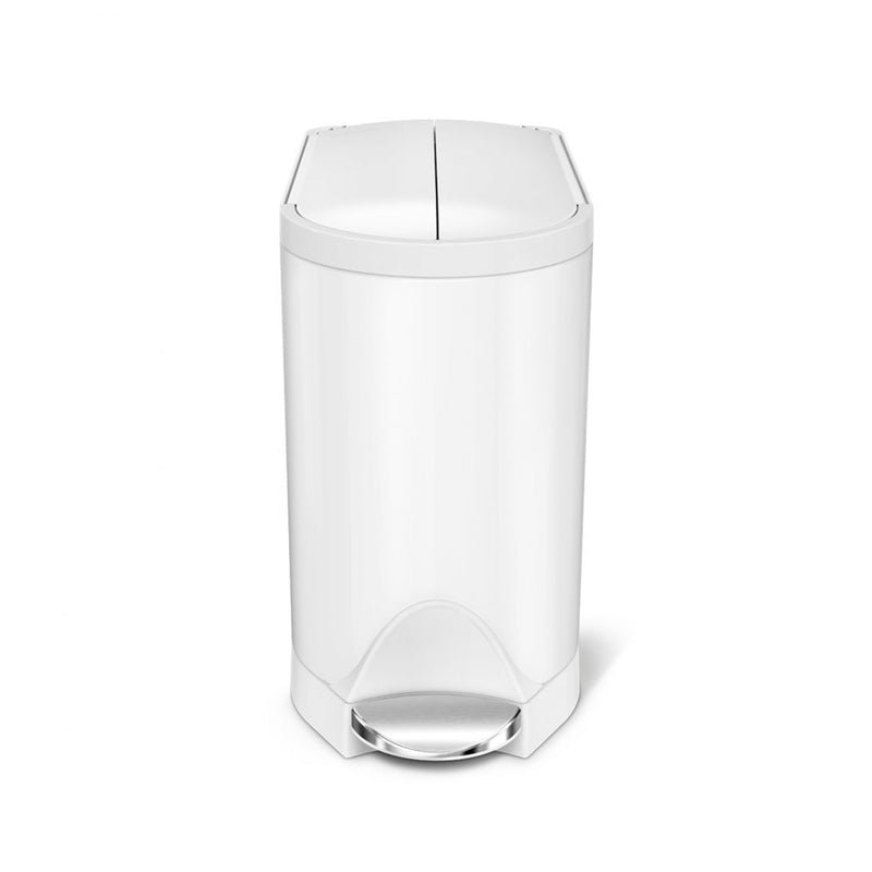 Simplehuman Butterfly White Step Can - 10L