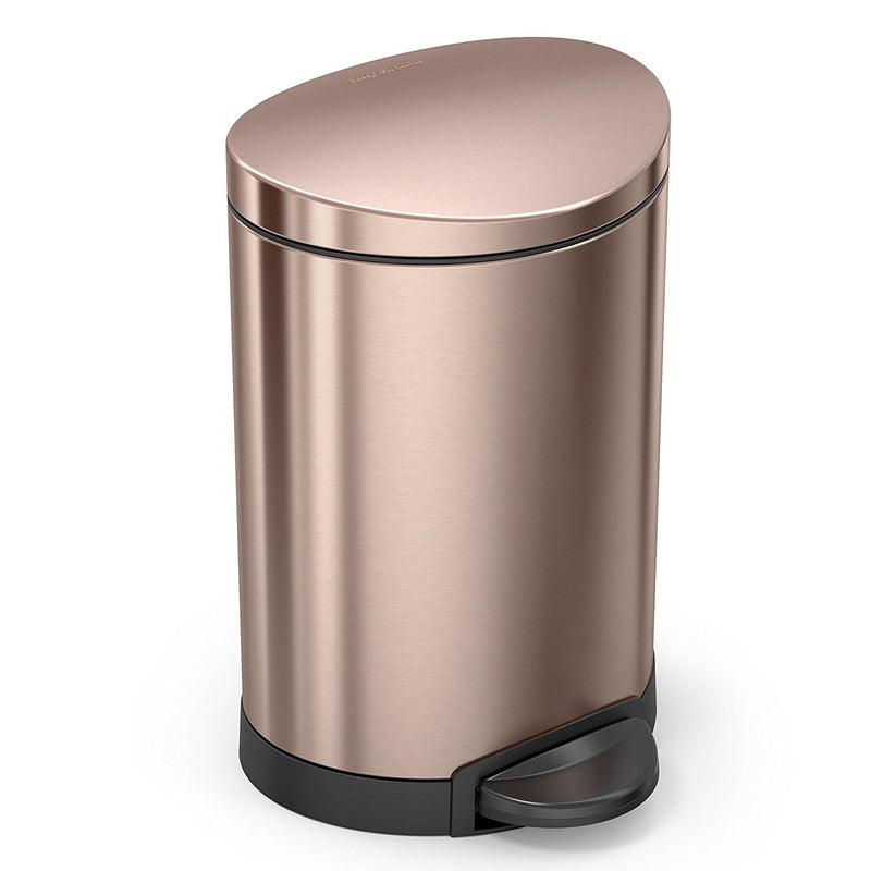 Simplehuman Semi-Round Rose Gold Step Can - 6L