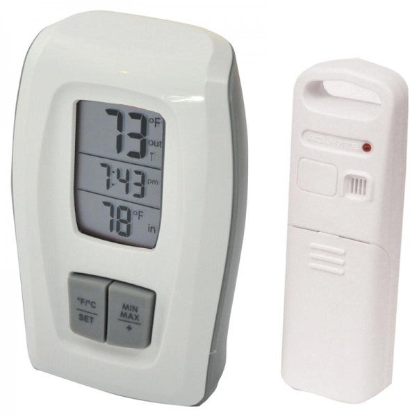 Acurite Wireless Thermometer w/Clock White