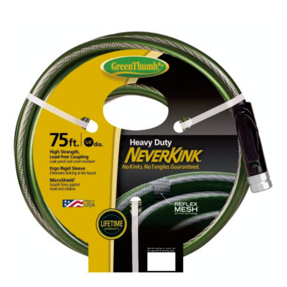 "Greenthumb Neverkink Heavy Duty Hose 5/8"" 75ft"