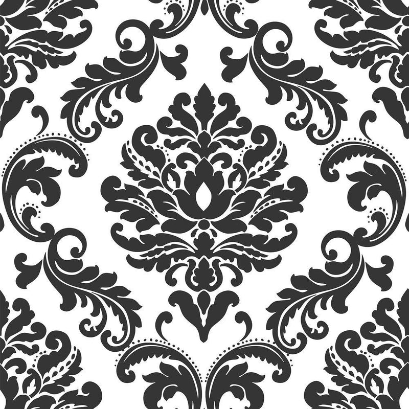 Wall Pops NU1646 NuWallpaper Ariel Black/White