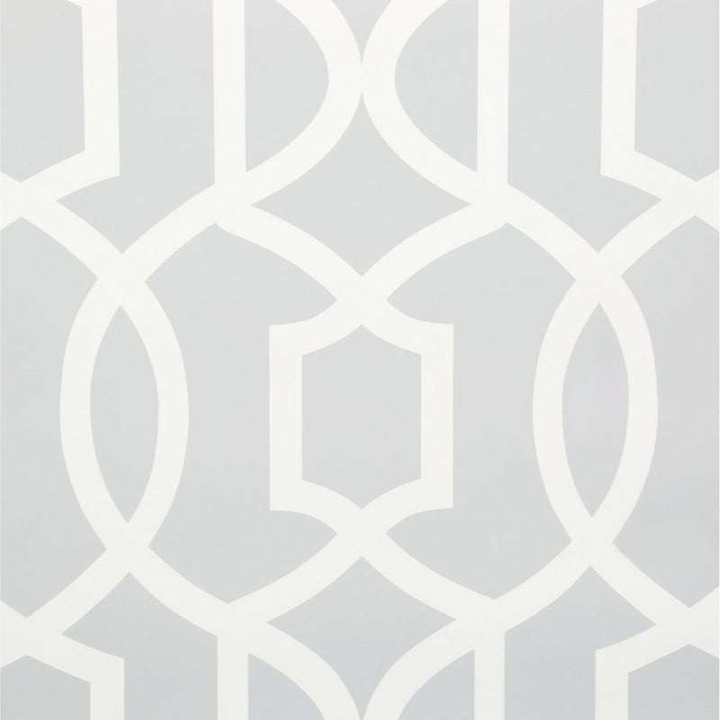 Wall Pops NU1421 NuWallpaper Grand Trellis Grey