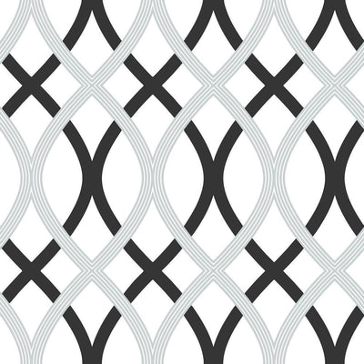 Wall Pops NU1658 NuWallpaper Lattice Black/White