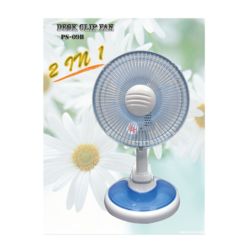 "Featured Product Photo for Soundteoh 7"" Desk Clip Fan 2-in-1"