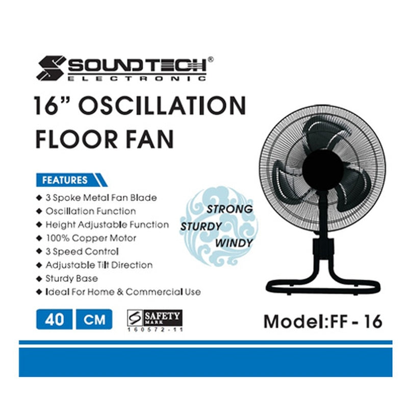 "Featured Product Photo for Soundteoh 16"" Oscillation Fan"
