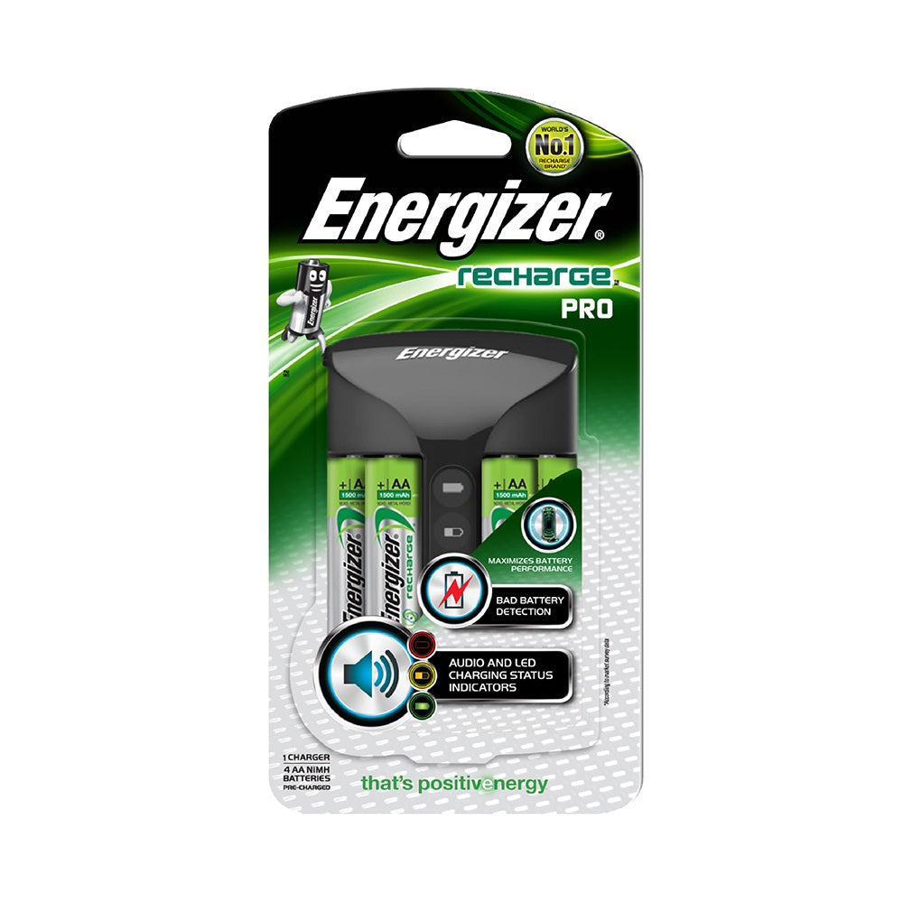 Energizer Recharge Pro Charger w/4Aa
