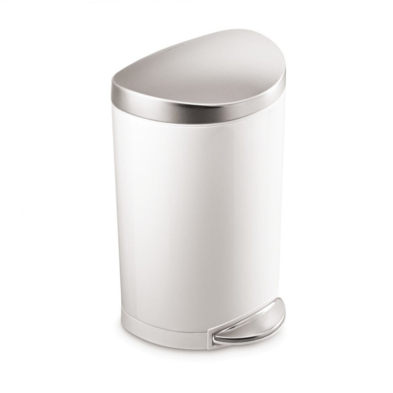Photo of Simplehuman Semi-Round 10L Step Can White