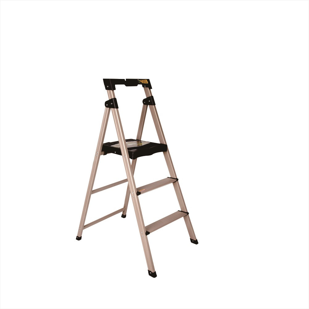 Boomjoy 3 Step Ladder Aluminium Rose