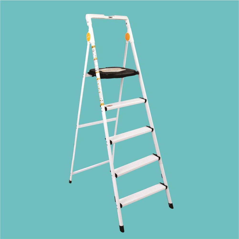 RENT - Boomjoy 5 Step Ladder Aluminium White