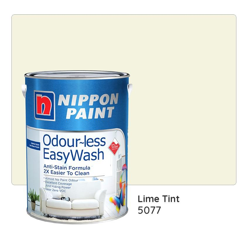 Nippon Paint Odour-less Easywash 5077 (Lime Tint)