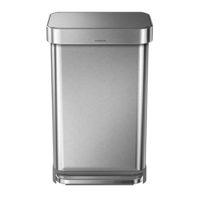 Simplehuman 45L Rectangular Step Can Stainless Steel