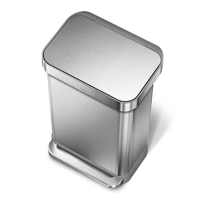 Photo of Simplehuman 45L Rectangular Step Can Stainless Steel