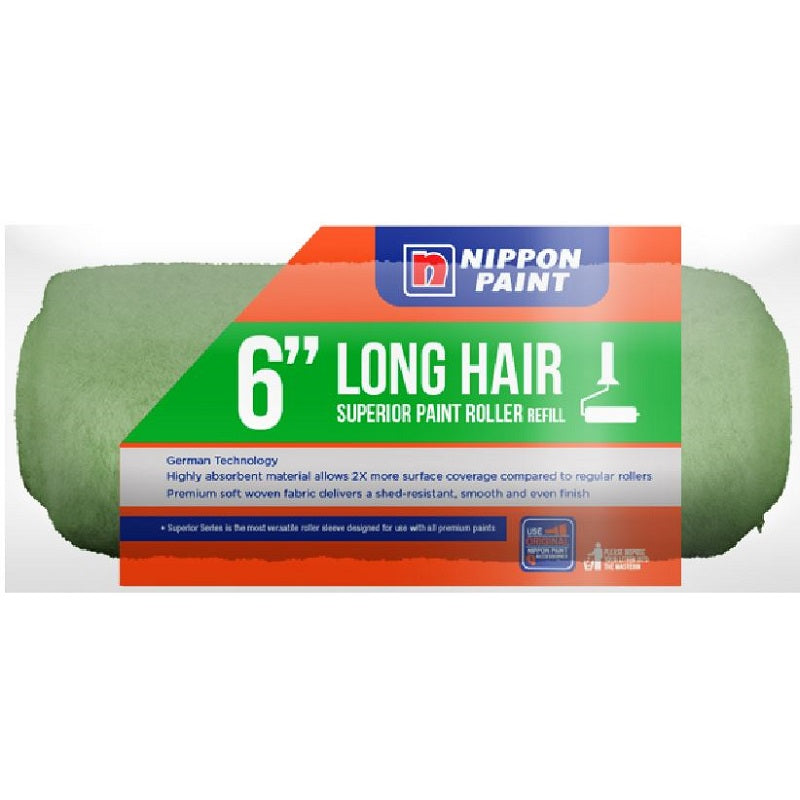 Nippon Long Hair Roller Refill Green 6""