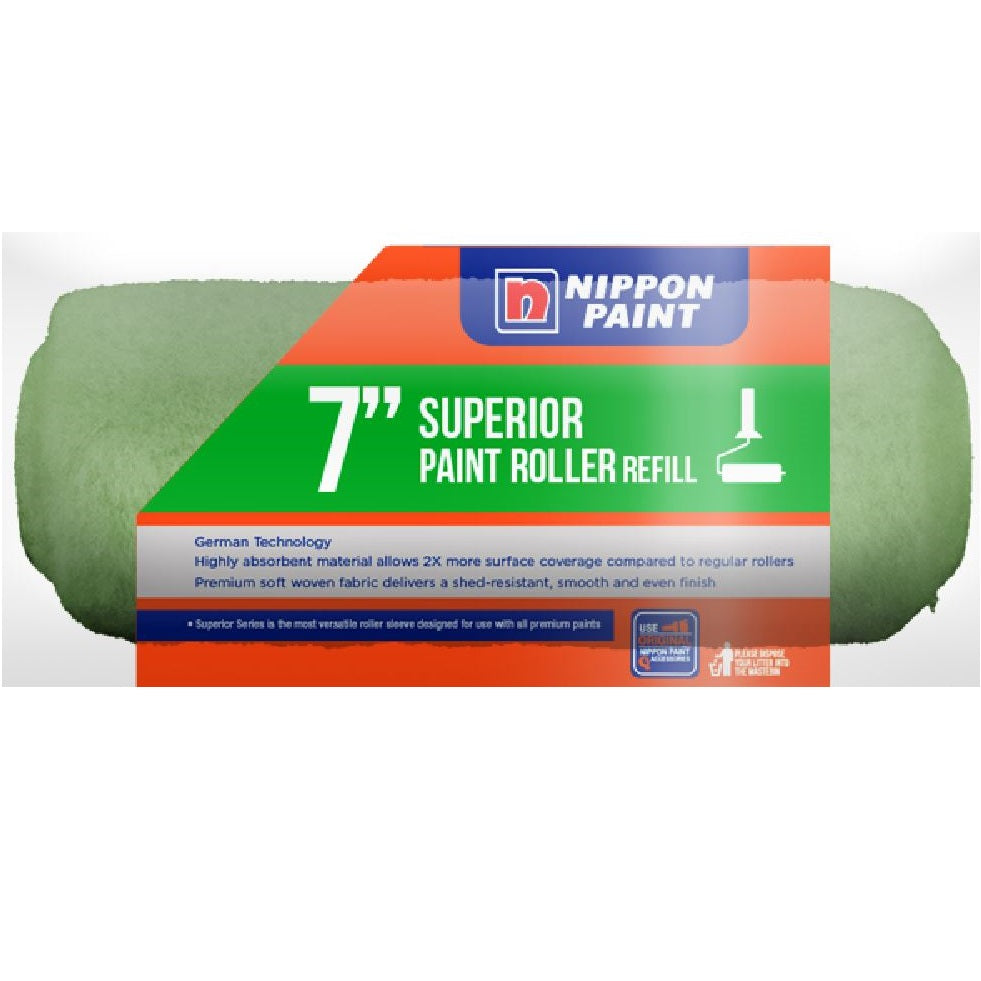 Nippon Long Hair Roller Refill Green 7""