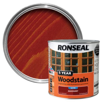 Ronseal 5Yr Woodstain Mahogany 750ml