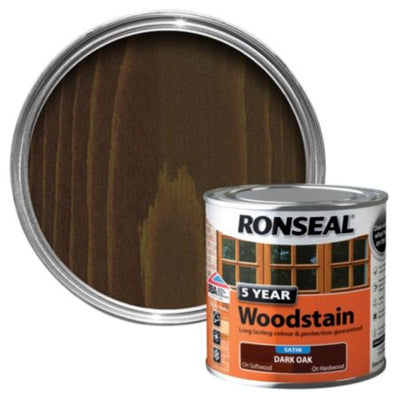 Ronseal 5Yr Woodstain Dark Oak 750ml