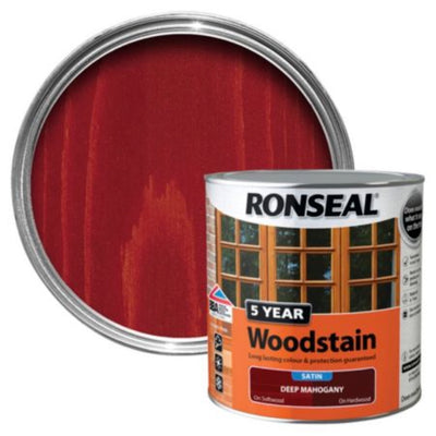 Ronseal 5Yr Woodstain Deep Mahogany 250ml