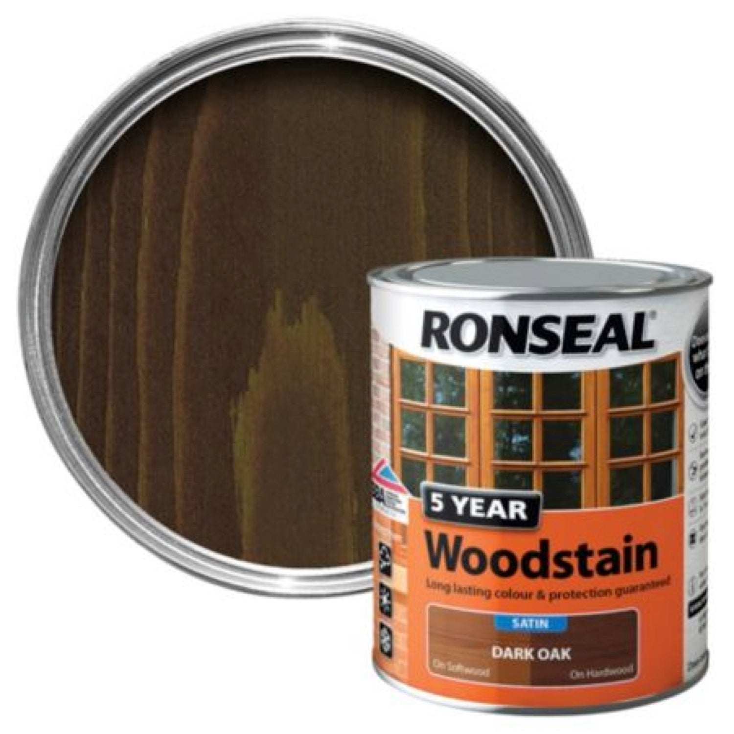 Ronseal 5Yr Woodstain Dark Oak 250ml