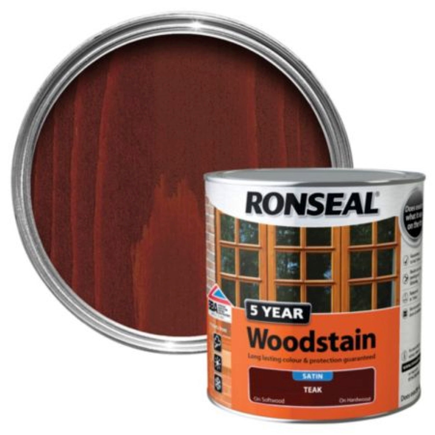 Ronseal 5Yr Woodstain Teak 250ml