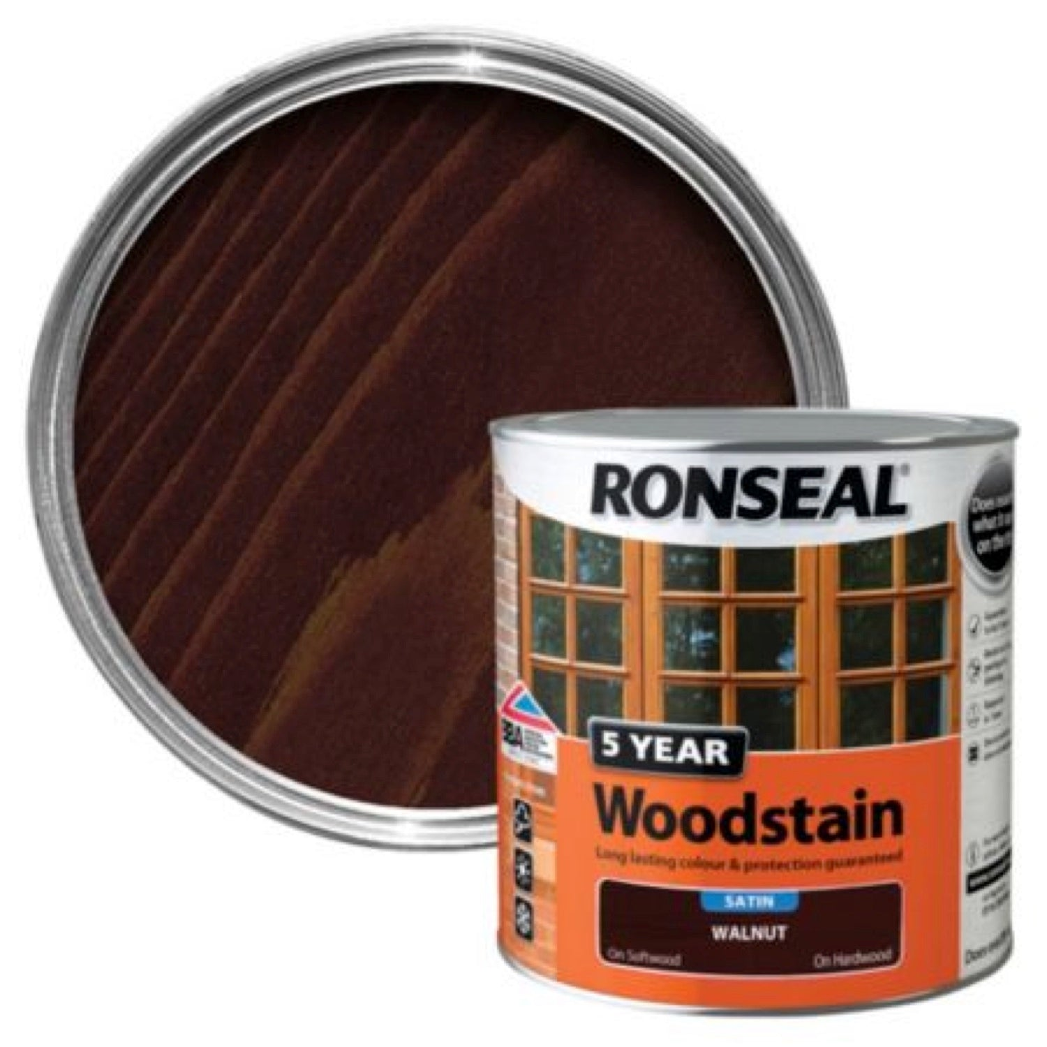 Ronseal 5Yr Woodstain Walnut 250ml