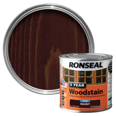 Photo of Ronseal 5Yr Woodstain Walnut 750ml