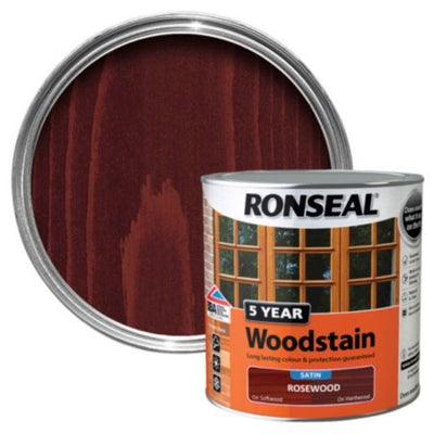 Photo of Ronseal 5Yr Woodstain Rosewood 750ml