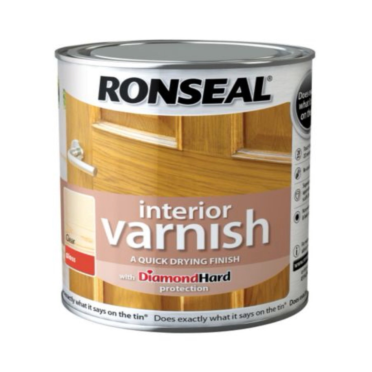 Ronseal Interior Varnish Clear Satin 250ml